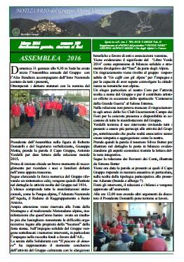Notiziario Marzo 2016