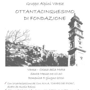 Ottantacinquesimo di fondazione – Gruppo Alpini Varese