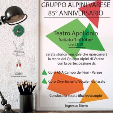 Ottantacinquesimo di fondazione del Gruppo Alpini Varese